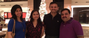 From Left : Sarita Mandanna, Sangeeta Modi, Sandeep Runwal & Yours Truly